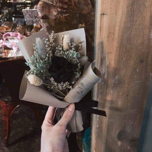 卡布奇諾永生花束|HUE詼-乾燥花藝設計