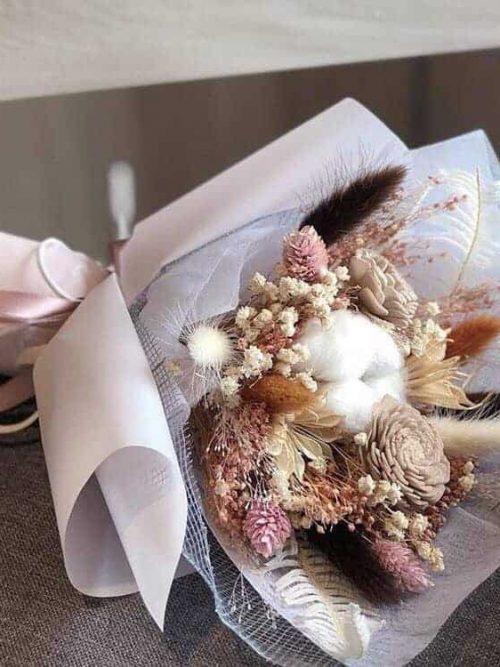 乾燥花束唯美粉-網美同款|HUE詼-乾燥花藝設計