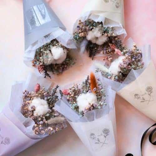 糖果色甜筒小花束 HUE詼-乾燥花藝設計