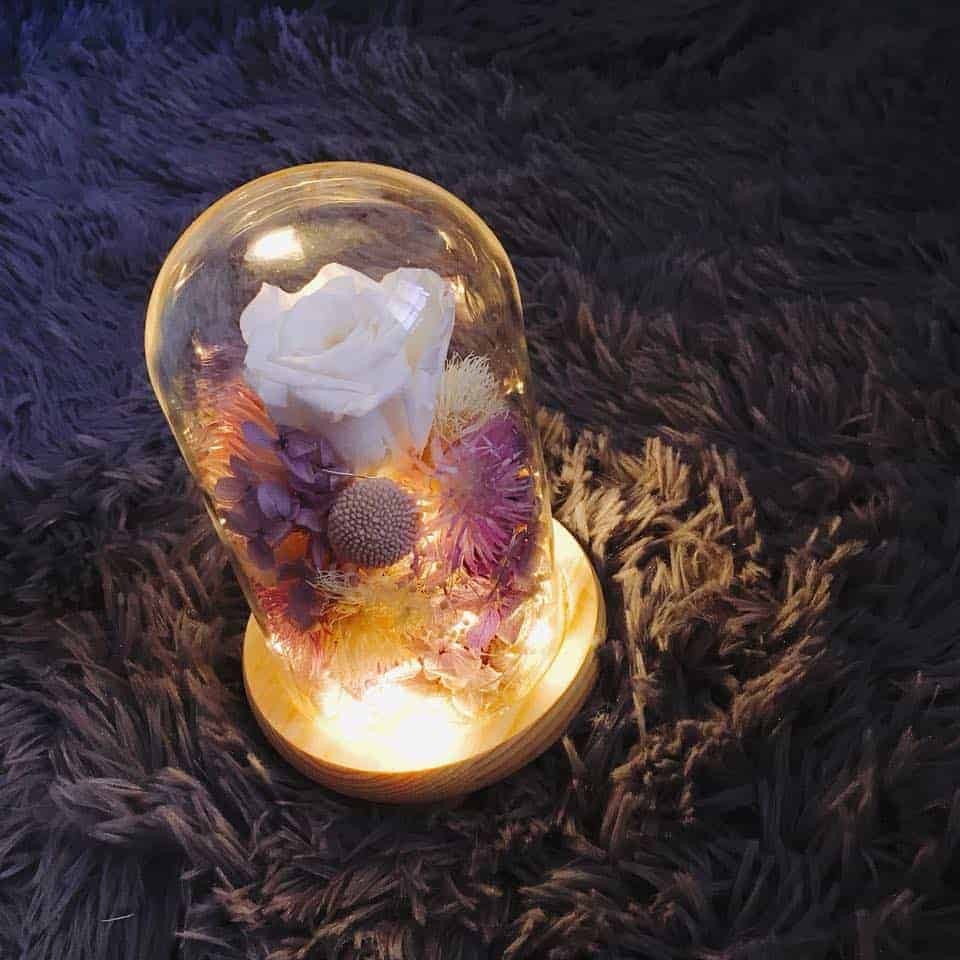 HUE詼 - 十二星座花語 天秤座乾燥花玻璃罩|乾燥花藝設計、乾燥花、永生花