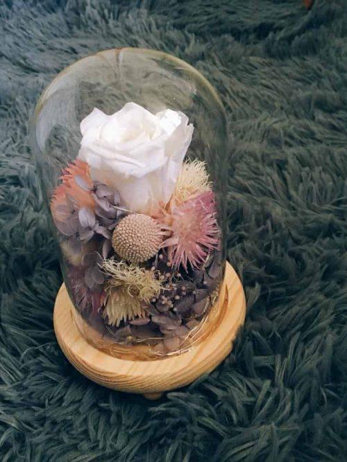 天秤座乾燥花玻璃罩|HUE詼-乾燥花藝設計
