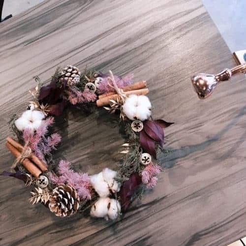 聖誕節花圈|HUE詼-乾燥花藝設計