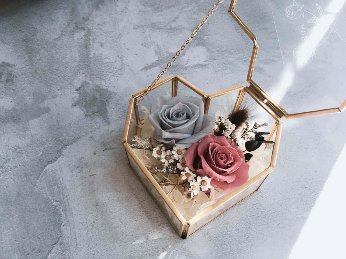 情人節禮物 - 愛心花盒