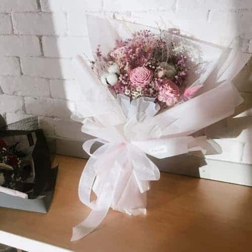 求婚花束【戀櫻】- 乾燥花求婚花束、永生花求婚花束