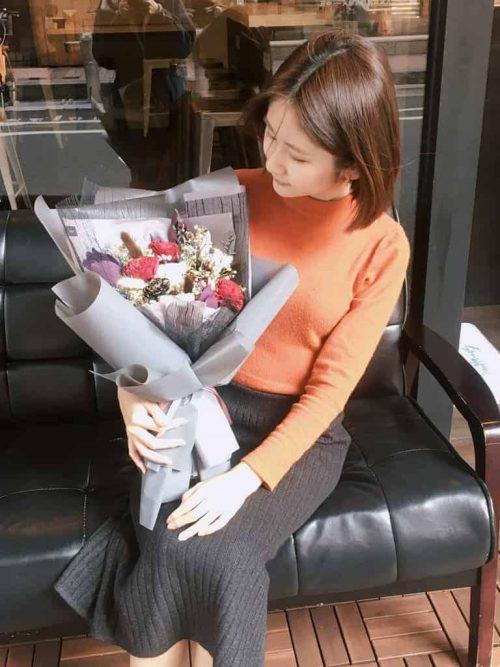 求婚花束【隱隱的愛】- 乾燥花求婚花束、永生花求婚花束
