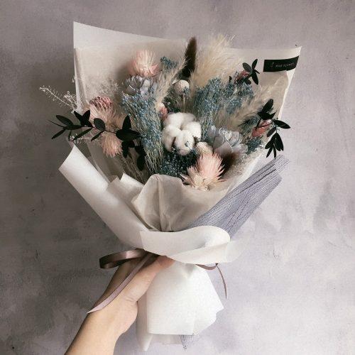 12星座系列【水瓶座乾燥花束】-乾燥花/專屬生日禮物