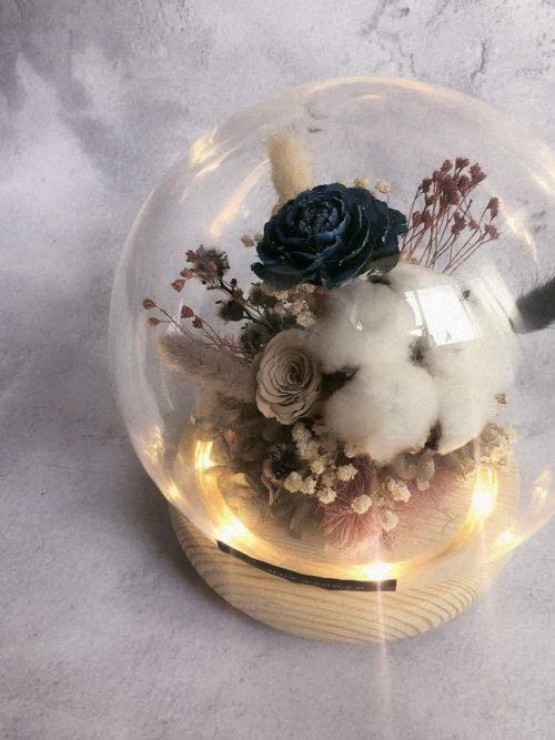 12星座系列【魔羯座星球花盒】-乾燥花/專屬生日禮物
