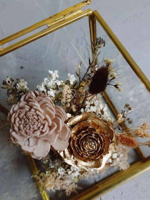 12星座系列【獅子座方形玻璃花盒】- 乾燥花 / 玻璃花盒