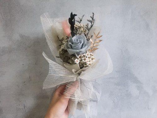 小型永生花束【絲綢詼】- 永生花