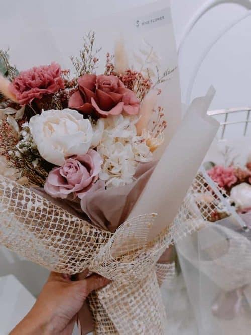 中型永生花束【溫暖的祝福】- 永生花