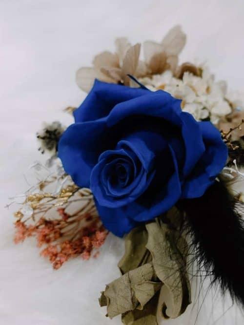 新郎/主婚人胸花【群青風】- 婚禮 / 乾燥花