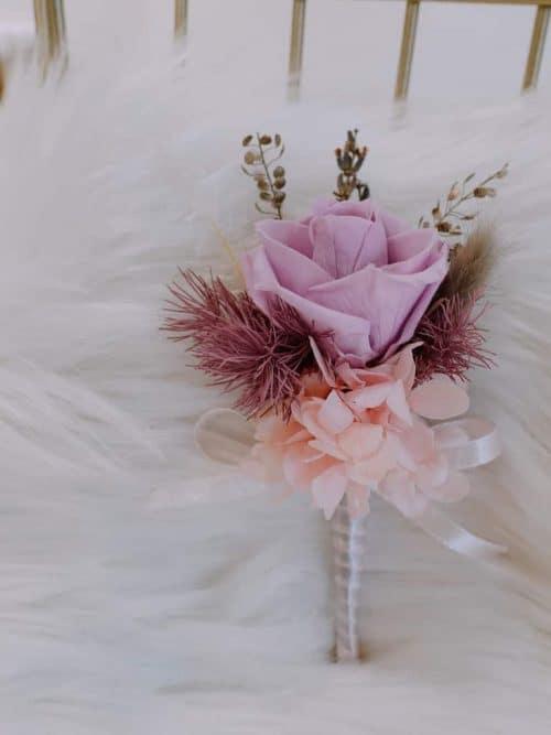 新郎/主婚人胸花【櫻花粉】- 婚禮 / 乾燥花