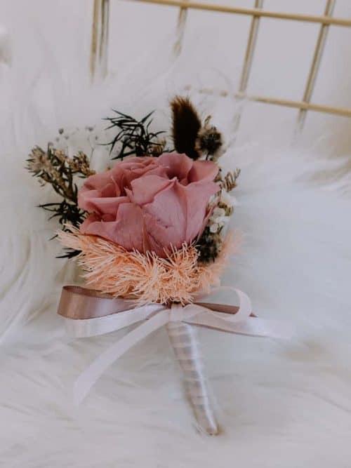 新郎/主婚人胸花【小桃子】- 婚禮 / 乾燥花