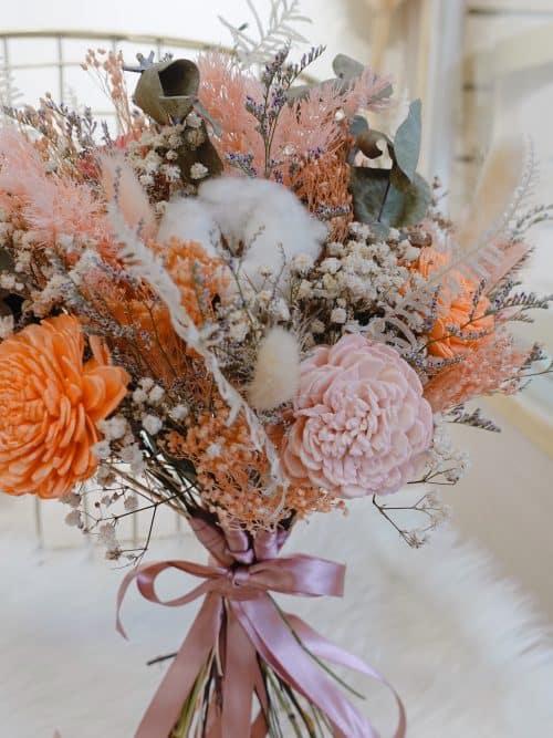 分束捧花 【橙心橙意】- 結婚捧花 / 新娘捧花 / 乾燥花捧花