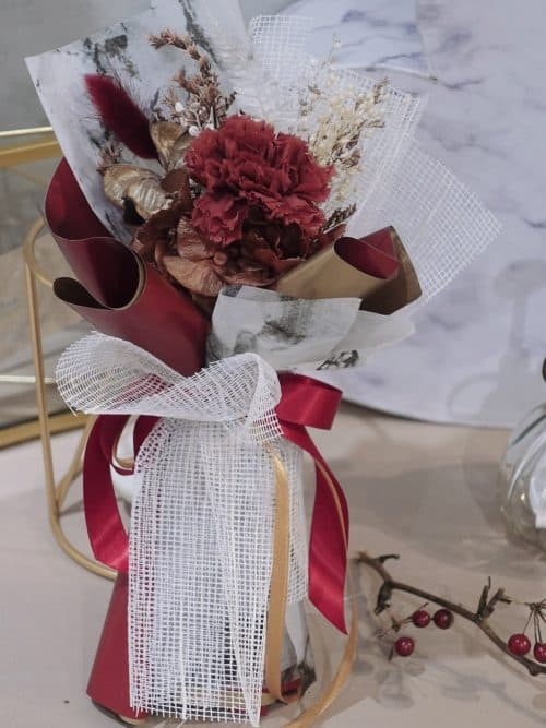 母親節永生花【Cherish (紅)】- 永生花 / 單朵花束