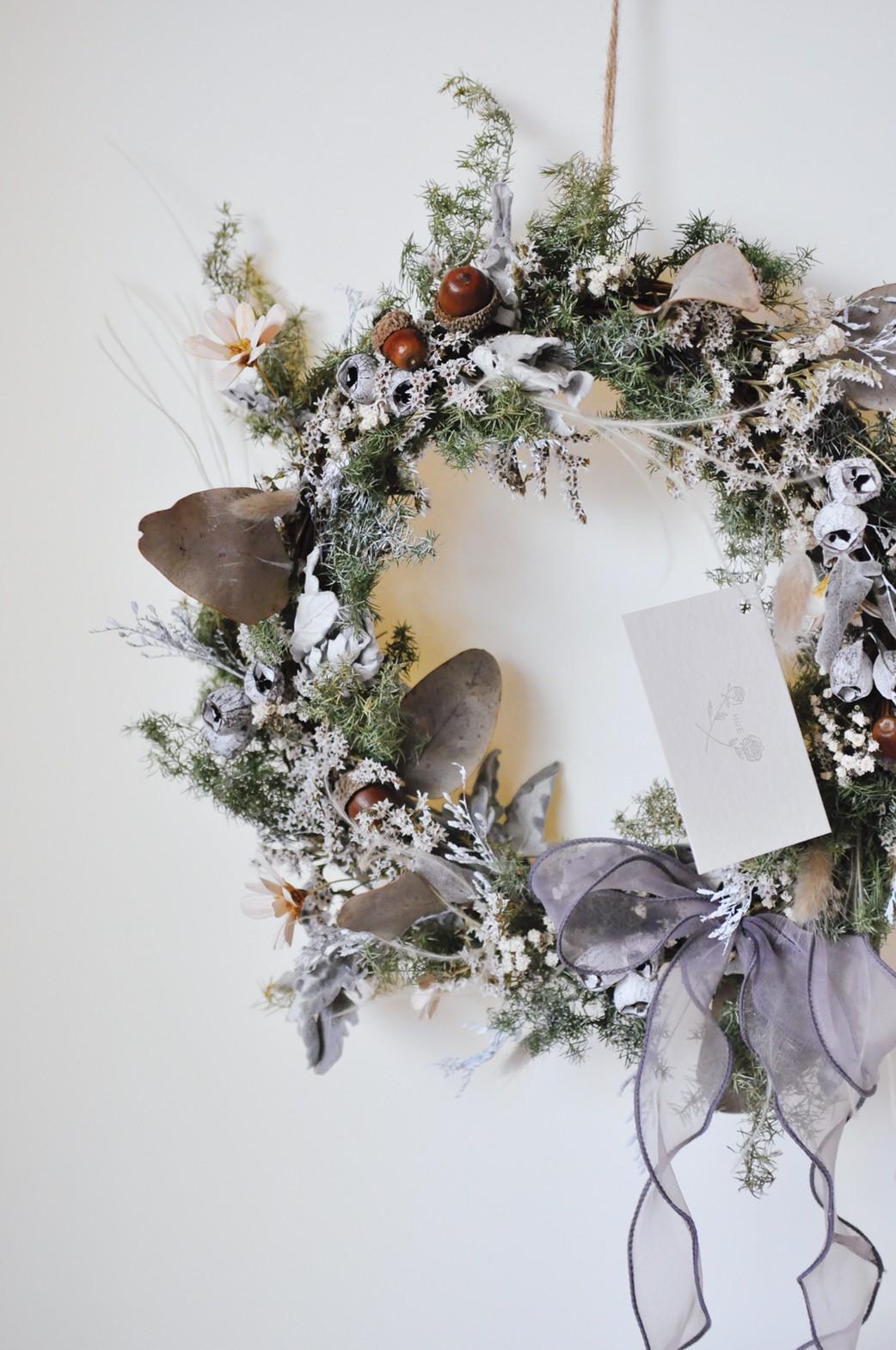 聖誕花圈 |HUE詼-乾燥花藝設計